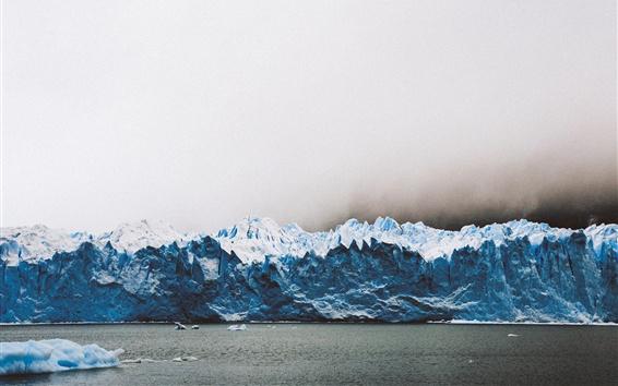 Wallpaper Los Glaciares National Park, glacier, Argentina