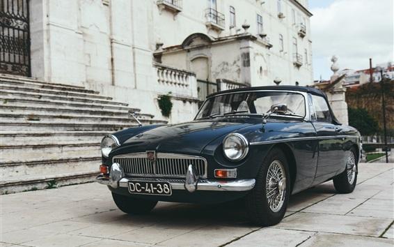 Обои MG ретро вид спереди автомобиля
