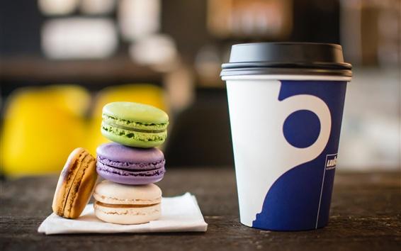 Wallpaper Macaron, biscuits, dessert, drinks