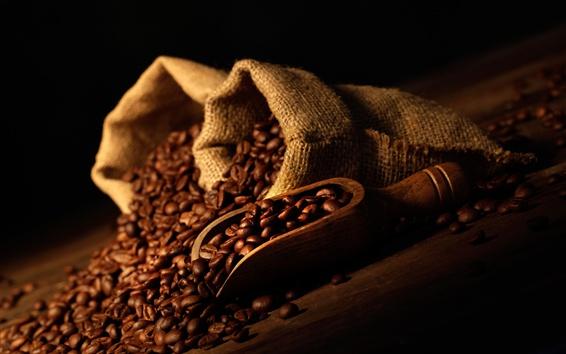 Papéis de Parede Muitos grãos de café, saco