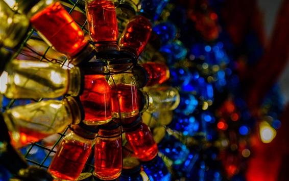 Papéis de Parede Muitos frascos de vidro