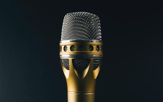 Wallpaper Microphone, music theme, black background