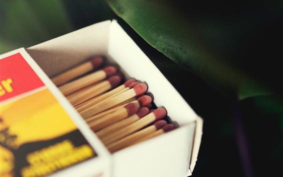 Wallpaper One box of matchsticks