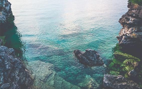 Wallpaper Ontario, Canada, sea, rocks