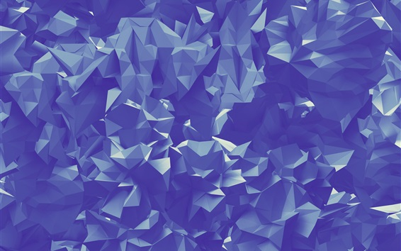 Wallpaper Paper folds, abstract triangles geometric