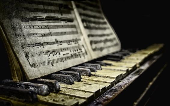 Wallpaper Piano, sheet music, dirt
