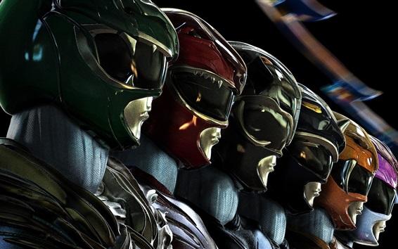 Wallpaper Power Rangers 2017 sci-fi movie