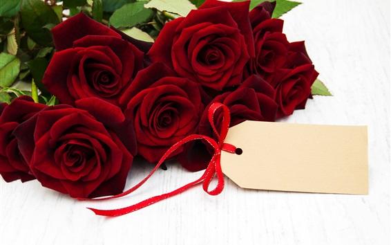 Fond d'écran Roses rouges, romance, cadeau
