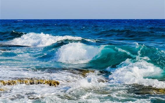壁紙 海、海、波、水スプラッシュ