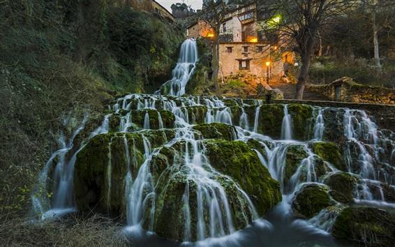 Обои Испания, Бургос, водопады, красивый природный ландшафт