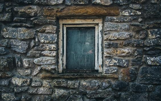 Wallpaper Stones wall, window