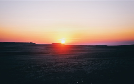 Wallpaper Sunset, mountains, sky, Cappadocia, Turkey