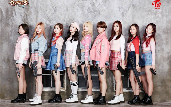 Fond d'écran Deux fois, les filles de musique coréenne 01