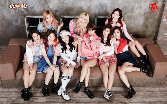 Wallpaper TWICE, Korean music girls 02