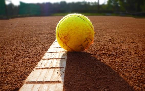 Wallpaper Tennis on ground, sun rays