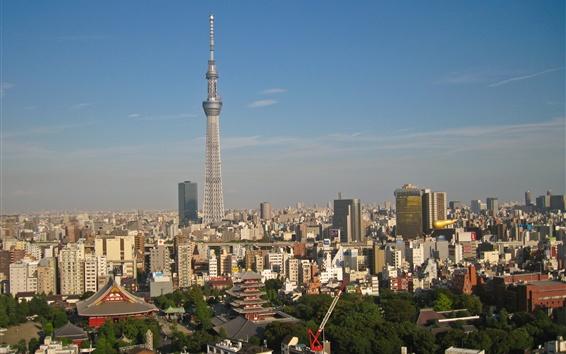 Fond d'écran Tokyo, Japon, tour, crépuscule, ville