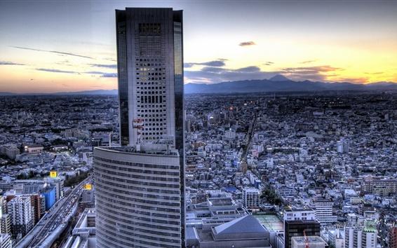 Wallpaper Tokyo, building, skyscrapers, city, dusk