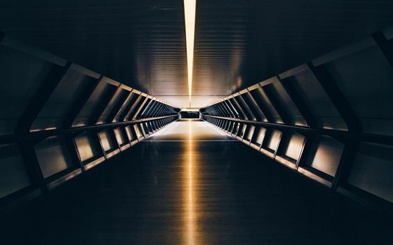 Wallpaper Tunnel, underground, light