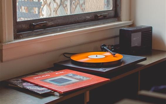 Wallpaper Vinyl records player