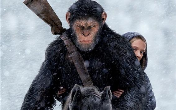 Fond d'écran Guerre pour la planète des singes 2017