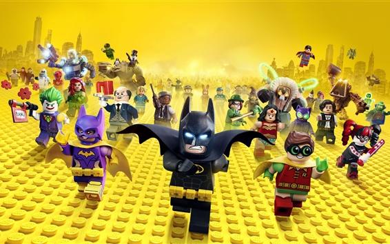 Fondos de pantalla Wonder Woman, Batman, héroes, juguetes, película de Lego