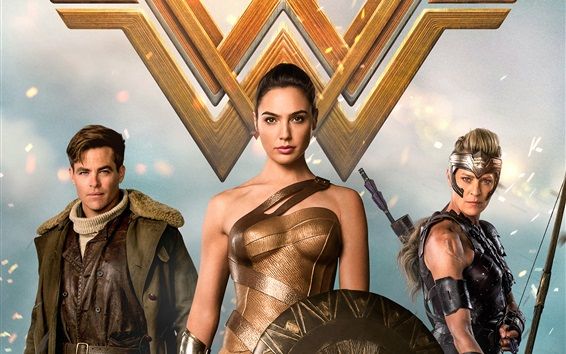 Fond d'écran Wonder Woman, Marvel film 2017