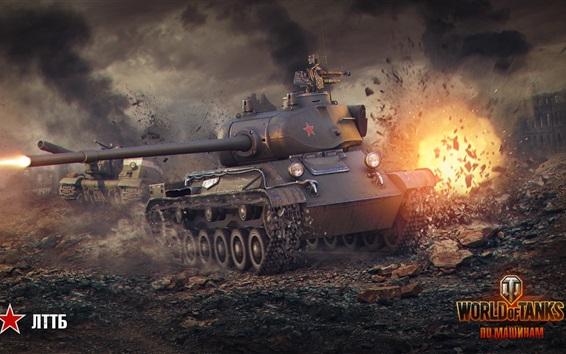 壁纸 坦克世界,火,战争