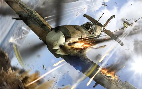 Wallpaper World of Warplanes, aircraft, shooting, sky
