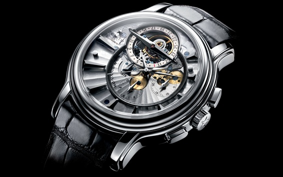 Papéis de Parede Relógios Zenith, fundo preto