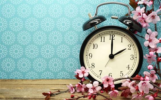 Papéis de Parede Despertador e flores rosa