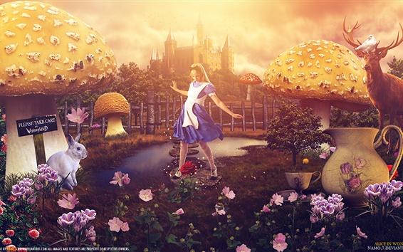Fond d'écran Alice au pays des merveilles, image créative