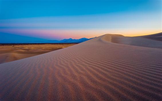 Wallpaper Amargosa Dunes, Nevada, USA, mountain, desert, dusk