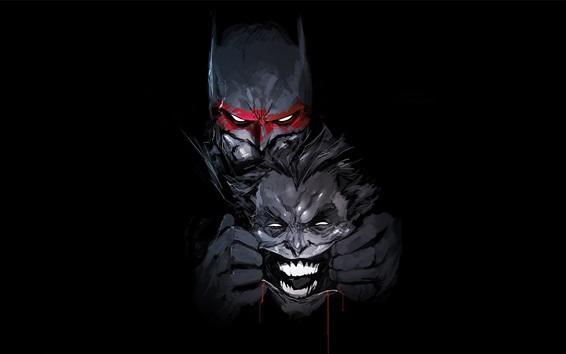 Fond d'écran Image d'art de Batman, Joker, DC Comics