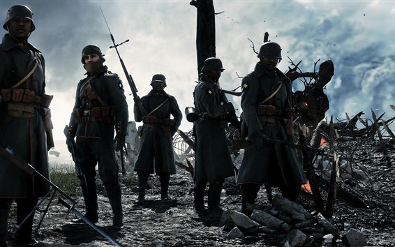 Hintergrundbilder Schlachtfeld 1, heiße Spiele, Soldaten
