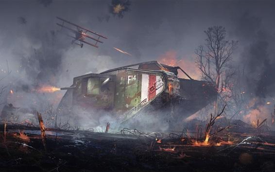 Hintergrundbilder Schlachtfeld 1, Landung, Krieg, Bäume