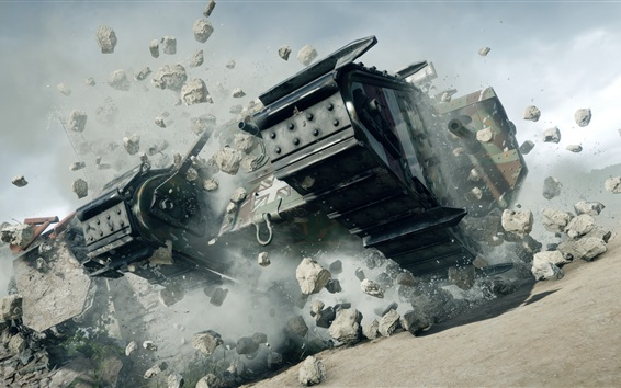 Hintergrundbilder Schlachtfeld 1, Panzer, Felsen