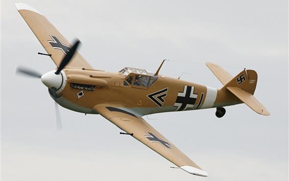 Wallpaper Bf-109F single-engine fighter, German