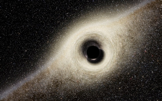Wallpaper Black Hole, space, power