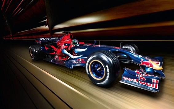 Обои Синяя скорость суперкара F1