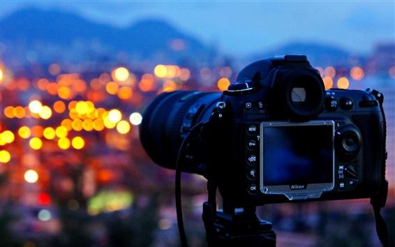 Wallpaper Camera, night, glare
