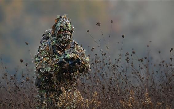Fond d'écran Camouflage, jumelles, soldat