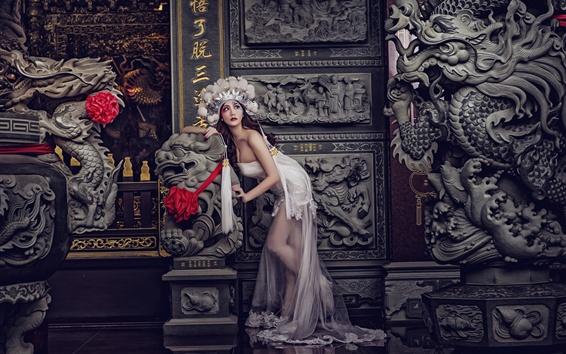 Hintergrundbilder Chinesisches Mädchen, Pose, Modell, China Oper Stil