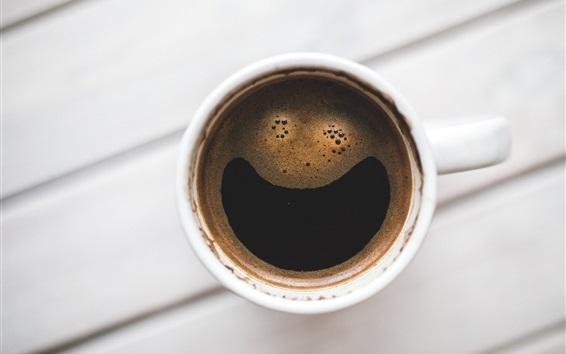 Обои Кофе, пена, вид сверху
