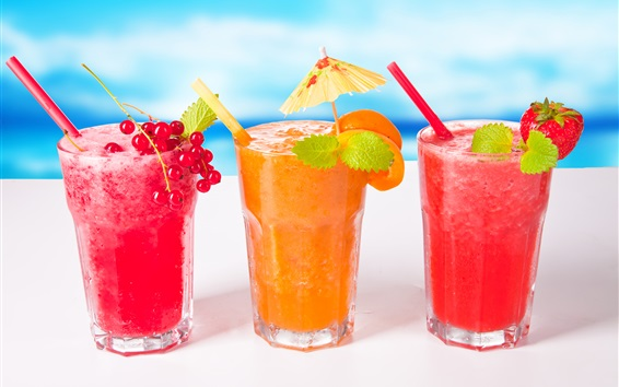 Cold Drinks, Cocktails, Strawberry, Apricot, Currant