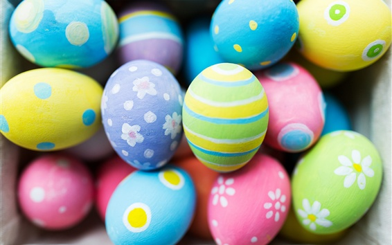 Wallpaper Colorful eggs, Easter
