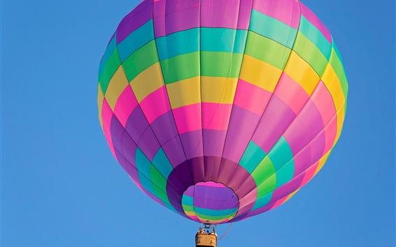 Wallpaper Colorful hot air balloon flight, sky