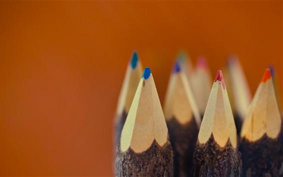 Wallpaper Colorful pencils, nib, macro