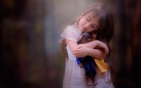 Fond d'écran Petite petite amie et sa poupée