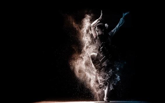壁纸 跳舞的女孩,灰尘
