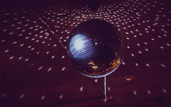 Wallpaper Disco ball light, mirror, rotation